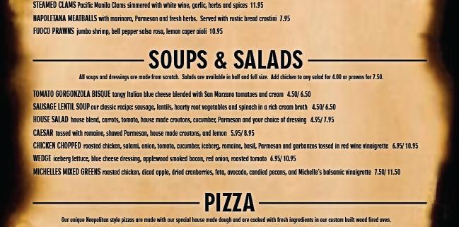 garlinis dinner menu 1